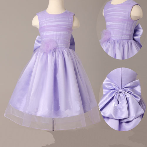 b7f74bd1e8b Lavender Tulle Strapless Simple Flower Girl Dress